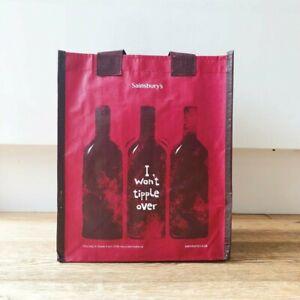 "Sainsbury""s 6 bottles wine spirit carrier bag NWT"