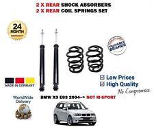 POUR BMW E83 X3 + XDRIVE 04-> 2 X AMORTISSEUR ARRIÈRE + 2 RESSORT SUSPENSION SET