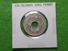 FIJI ISLANDS - 1961 PENNY, COLONIAL ERA - PREDECIMAL COIN.
