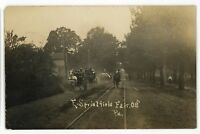 RPPC Parade Fair in EAST SPRINGFIELD PA Erie County Real Photo Postcard