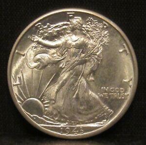 1943 D Walking Liberty Half Dollar VERY CHOICE BU