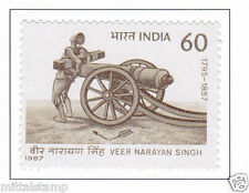 PHILA1111 INDIA 1987 VEER NARAYAN SINGH MNH