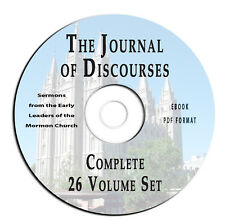 Journal of Discourses Complete 26 VOLS-Mormon-CD eBook PDF-Christian Apologetics