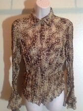 LIOYD WILLIAMS Small Shirt, Excellent Condition, Animal Print, Snap Button