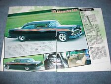 "1955 Chevy 210 Sedan Chopped Top Custom Article ""...With An Attitude"""