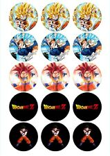 Edible Cupcake Toppers DRAGONBALL Z pre cut - Highest Australian Quality
