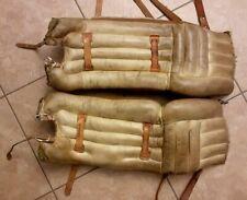 "Rare Vintage DR  LG320 29"" Pro Style Leather Hockey Goalie Pads-Nice!!!"