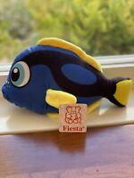 "Fiesta Tilly Blue Fish Stuffed Animal Plush Doll Toy 9"" Brand New"