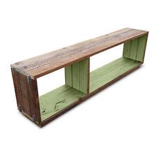 Rustic Wooden Modular Bookshelf Bookcase Floating Storage Shelving Unit in Mint