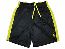 Polo Ralph Lauren Black Yellow Gym Athletic Shorts Running Pants Large L