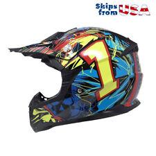MotorcycleYouthHelmet Off Road MX ATV Dirt Bike Motocross UTV - Large