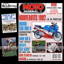 MOTO JOURNAL N°1001 YAMAHA 125 TDR GUZZI 1000 QUOTA BMW R100 GS NICO BAKKER 1991