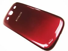 RED  Back Battery Door Cover Case Samsung Galaxy S3 L710 I535 i9300 T999 i747