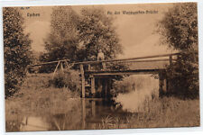 AK Lychen Wuppgarten - Brücke 1916 Gelaufen Alte Ansicht Rar