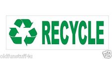 Recycle Bumper Sticker or Helmet Sticker D404 Go Green Save the earth