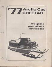 1977 ARCTIC CAT CHEETAH SNOWMOBILE SET-UP/ PRE-DELIVERY INSTRUCTION MANUAL(474)
