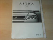 16136) Opel Astra Preise & Extra Prospekt 07/98