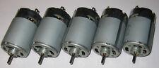 5 X Mabuchi RS-555 PH Motors - 12V - 4500 RPM - High Torque Motors - 5 Poles
