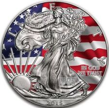 2015 1 Oz Silver  American Eagle UNION VS CONFEDERACY Coin - Antique and Color..