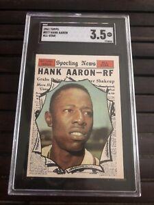 1961 Topps # 577 - HANK AARON - High # - SGC 3.5 VG+ HOF - Milwaukee Braves