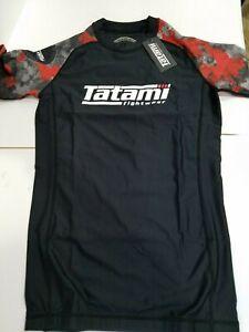New Tatami Renegade Red Camo MMA BJJ Jiu Jitsu Short Sleeve SS Rashguard
