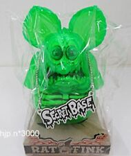 SECRET BASE Rat Fink X-Ray Neon Green Figure Doll Statue LTD Japan VERY RARE!!