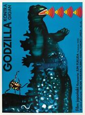 Godzilla Gigan POSTER  *RARE Polish Artwork* Sci Fi LARGE - AMAZING COLORS