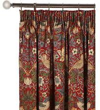 Genuine William Morris Strawberry Thief Crimson Furnishing Fabric By Sanderson