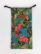 GENUINE MAUI JIM SUNGLASSES MICROFIBER POUCH Tropical Drawstring Cleaning Bag