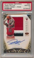 JIMMY BUTLER 2012/13 PREFERRED RC SILHOUETTES AUTO 3 COLOR PATCH #/25 PSA 10 GEM