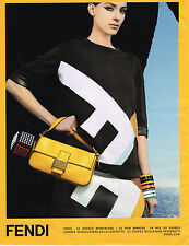 PUBLICITE ADVERTISING 104  2013  FENDI   boutique maroquinerie sacs 2