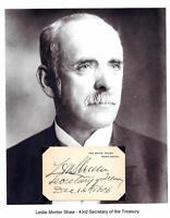 Leslie L M Shaw Autograph Treasury Secretary Governor Iowa Vermont Cornell #1