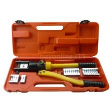 16 Ton Hydraulic Crimper Cable Wire Force Crimping Tool Kit 12 Die 10-300mm T4J9