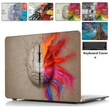 Colorful Brain Hard Shell Case+Keyboard Cover Apple Mac Book Macbook 2009-2018