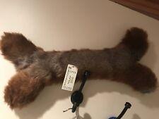 "Hugglehounds Giant Large Plush Faux Mink Super Squeaker Bone Toy NWT 22"" Long!"
