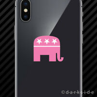 (2x) Pink GOP Republican Elephant Cell Phone Sticker Mobile girl
