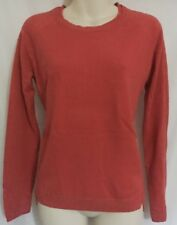 TU Pink Coral Red Scoop Neck Thin Smart Work Fine Knitted Knit Top Jumper Size 8