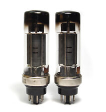 MATCHED PAIR OF 1. Génération Philips el34 tubes, metal Tall Base, 5 S KEB codes