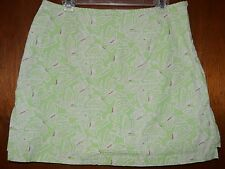 Green and Pink Butterfly Skort Sz 16 Stretch Cotton Spandex Skirt w/Shorts
