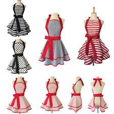Women Girl Kitchen Cooking Bowknot Restaurant Aprons Princess Dress Work Uniform