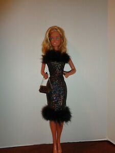 """PRETTY SHIMMER DRESS  OUTFIT FOR 18"""" SUPER SIZE BARBIE DOLL- OUTFIT ONLY"""