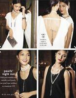 New Stella & Dot Mara Pearl Long /Short /Choker Tassel Necklace 4 IN 1 Versatile