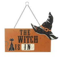 The sorcière est en & en bois Halloween Panneau de porte – Décoration intérieur