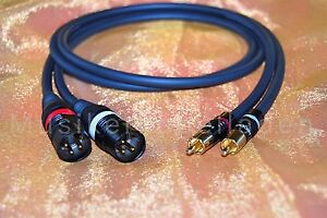 Sommercable Galileo NF-Phonokabel, Hicon Cinch / XLR Male - 2 x 3,0 m