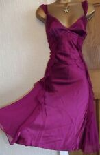 GORGEOUS❤️ Karen Millen Silk Wine Red Dress Size 10 12 Gypsy Boho Evening Dress