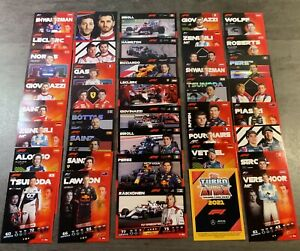 F1 FORMULE 1 - TURBO ATTAX 2021 Topps - Lot De 5 Cartes au Choix!