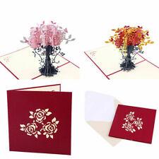3D Bonsai Flower Greeting Card Birthday Wedding Party Invitation Gifts