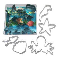 Under The Sea Cookie Cutter 5 Pc Set L9028 - Foose Cookie Cutters - USA Tin