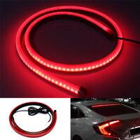Universal 100cm Flexible Waterproof Red LED Stop Brake Light Strip Super Bright