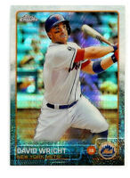 David Wright 2015 Topps Chrome #102 Prism Refractor Mint New York N.Y. Mets